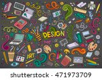 colorful vector hand drawn... | Shutterstock .eps vector #471973709