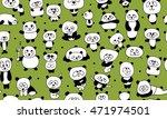 funny pandas  seamless pattern...   Shutterstock .eps vector #471974501