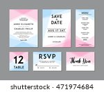 modern wedding set template.... | Shutterstock .eps vector #471974684
