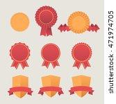 heraldic emblem shields awards... | Shutterstock .eps vector #471974705