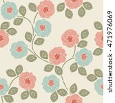 beautiful seamless pattern with ... | Shutterstock .eps vector #471976069