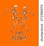 dancing skeletons for halloween ... | Shutterstock .eps vector #471980074