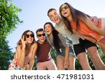 happy friendship concept with... | Shutterstock . vector #471981031