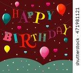 vector greeting card happy... | Shutterstock .eps vector #471981121