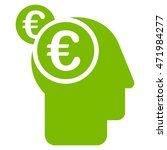 euro businessman intellect icon.... | Shutterstock . vector #471984277