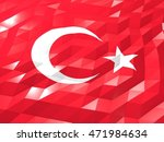 flag of turkey 3d wallpaper... | Shutterstock . vector #471984634