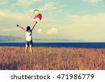 young woman with colorful... | Shutterstock . vector #471986779