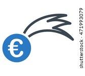 euro falling meteor icon. glyph ...   Shutterstock . vector #471993079