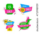 special offer sale tag discount ... | Shutterstock .eps vector #471998959