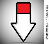 pointer arrow with two colors | Shutterstock .eps vector #472001161