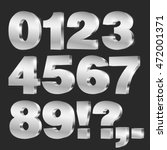 3d vector numbers  set from 0... | Shutterstock .eps vector #472001371