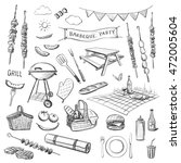 vector sketches on a white... | Shutterstock .eps vector #472005604