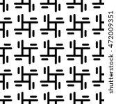 seamless pattern. monochrome.... | Shutterstock .eps vector #472009351