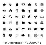 vector icons set of seo website ... | Shutterstock .eps vector #472009741