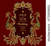 wedding invitation or card with ... | Shutterstock .eps vector #472009831