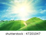 summer green hills | Shutterstock . vector #47201047