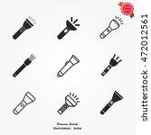 flashlight icon vector | Shutterstock .eps vector #472012561