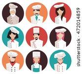 set of icons. chefs. vector... | Shutterstock .eps vector #472014859