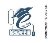 e learning concept. logo... | Shutterstock .eps vector #472019431