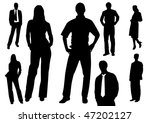 set of business men and women... | Shutterstock . vector #47202127