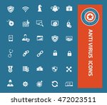 anti virus and computer icon... | Shutterstock .eps vector #472023511