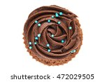 chocolate cup cake isolated on... | Shutterstock . vector #472029505
