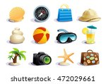 summer days symbols and icons... | Shutterstock .eps vector #472029661