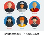 world religions monk people... | Shutterstock .eps vector #472038325