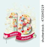 card invitation with  number... | Shutterstock .eps vector #472045219
