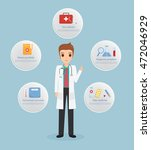 doctor infographic step to... | Shutterstock .eps vector #472046929
