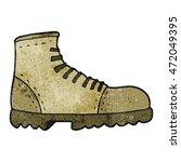 freehand textured cartoon boot | Shutterstock . vector #472049395