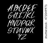 alphabet letters.white... | Shutterstock .eps vector #472049971