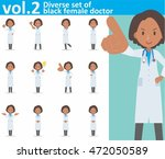 diverse set of black female... | Shutterstock .eps vector #472050589