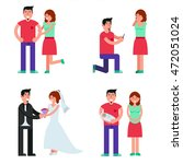 happy young couple...   Shutterstock .eps vector #472051024