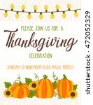 vector thanksgiving invitation... | Shutterstock .eps vector #472052329