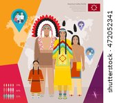 american indian family in... | Shutterstock .eps vector #472052341