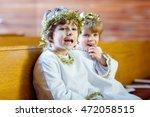 Two Beautiful Little Kids In...