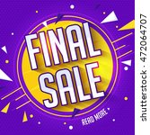 final sale poster  banner or... | Shutterstock .eps vector #472064707