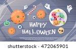 happy halloween sweets banner...   Shutterstock .eps vector #472065901