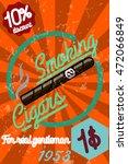 tobacco shop banner. label o... | Shutterstock .eps vector #472066849