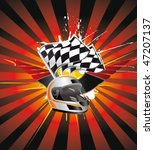 racing sign on the ray... | Shutterstock .eps vector #47207137
