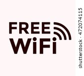 wifi free icon | Shutterstock .eps vector #472074115