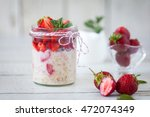 healthy breakfast  overnight... | Shutterstock . vector #472074349