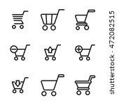 shopping cart vector icons....