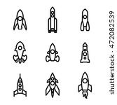 rocket vector icons. simple...