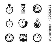 stopwatch vector icons. simple...