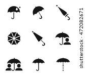 umbrella vector icons. simple...