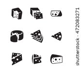 cheese vector icons. simple...