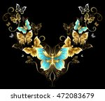 symmetrical pattern of gold... | Shutterstock .eps vector #472083679
