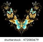 symmetrical pattern of gold...   Shutterstock .eps vector #472083679